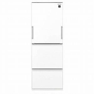 シャープ 3ドア冷蔵庫(356L・どっちもドア) SJ-GW36E-W ピュアホワイト(標準設置無料)