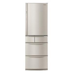 パナソニック 5ドア冷蔵庫(406L・右開きタイプ) NR-E414V-N シャンパン(標準設置無料)