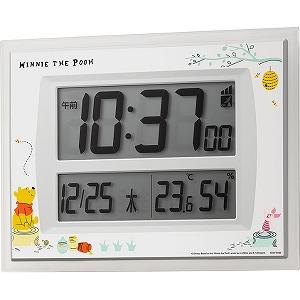 リズム時計工業 掛置兼用デジタル時計 くまのプーさん 8RZ206MC03