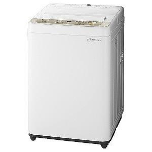パナソニック 全自動洗濯機(洗濯5.0kg) NA-F50B12-N シャンパン(標準設置無料)