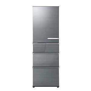 AQUA 5ドア冷蔵庫/左開きタイプ/415L AQR-SV42HL-S チタニウムシルバー(標準設置無料)