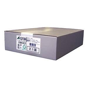 エーワン ラベルシール[レーザープリンタ] (A4サイズ・21面・500枚) 28643