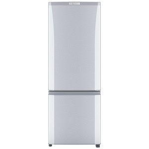 三菱 2ドア冷蔵庫(168L・右開き) MR-P17D-S シャイニーシルバー(標準設置無料)
