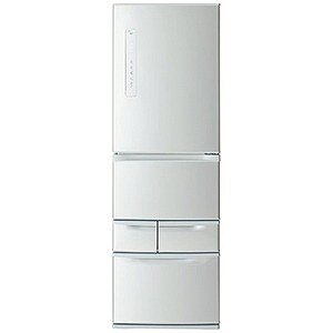 東芝 5ドア冷蔵庫(411L・右開き) GR-P41G-S シルバー(標準設置無料)