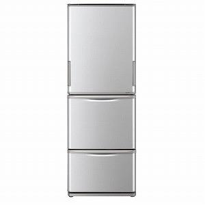 シャープ 3ドア冷蔵庫(350L・どっちもドア) SJ-W351E-S シルバー系(標準設置無料)
