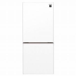 シャープ 2ドア冷蔵庫(137L・右開きタイプ) SJ-GD14E-W クリアホワイト(標準設置無料)