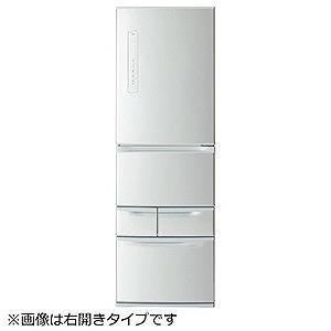 東芝 5ドア冷蔵庫(411L・左開き) GR-P41GL-S シルバー (標準設置無料)