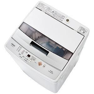 AQUA 全自動洗濯機(洗濯4.5kg) AQW-S45G-W ホワイト(標準設置無料)