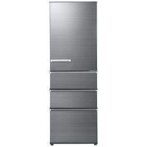 AQUA 4ドア冷蔵庫(375L・右開き) AQR-SV38H-S チタニウムシルバー(標準設置無料)