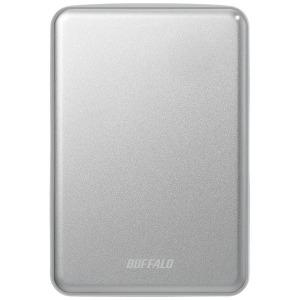 バッファロー 外付けHDD シルバー [ポータブル型 /1TB] HD-PUS1.0U3-SVD