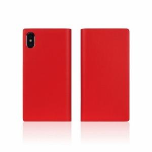 ROA iPhone XS Max 6.5インチ用 Calf Skin Leather Diary SD13740I65(レット