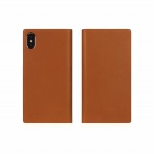 ROA iPhone XS Max 6.5インチ用 Calf Skin Leather Diary SD13742I65(キャメ