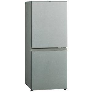 AQUA 2ドア冷蔵庫 (126L・右開き) AQR-13H(S) ブラッシュシルバ (標準設置無料)