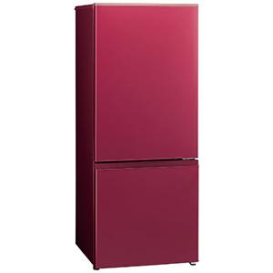 AQUA 2ドア冷蔵庫(184L・右開き) AQR-BK18H(R) レッド(標準設置無料)