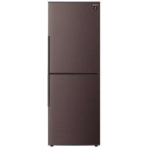シャープ 2ドア冷蔵庫(280L・右開き) SJ-PD28E-T ブラウン系(標準設置無料)