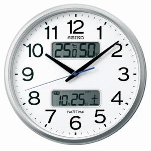 セイコー 電波掛け時計 「ネクスタイム」 ZS250S 銀色メタリック