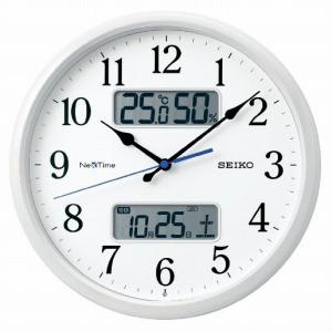 セイコー 電波掛け時計 「ネクスタイム」 ZS251W 白パール