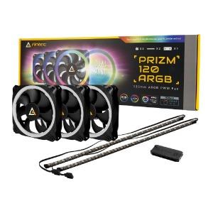 ケースファン[120mm/2000RPM]+LEDコントローラー+LEDストリップ Prizm120ARGB3+2+C