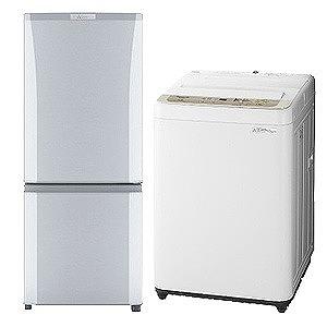 冷蔵庫・全自動洗濯機 の新生活応援お買い得2点セット(2)(標準設置無料)