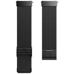 Fitbit フィットビット Versa 専用 純正 交換用 ステンレス リストバンド FB166MMBK メタルメッシュブラック ワンサイズ