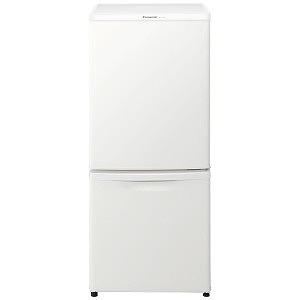 パナソニック 2ドア冷蔵庫 (138L・右開き) NR-B14BW-W マットバニラホワイト(標準設置無料)