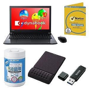 新生活応援 ダイナブックこだわりセット PT45GBP-SEA + MP-095BK + WC-DP110LN3 + MFHSU3A16GBK + ノートンプレタブレットムケ1ネンド(送料無料)