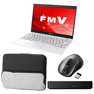 2019年新生活応援 モバイルセット FMVU55C3LB + M-NK01DBSBK + BM-IBPT13BK + SGP-MX010UBK(送料無料)