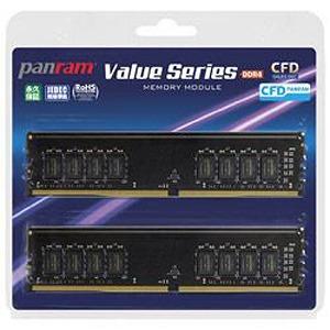 ウエスタンデジタル デスクトップ用メモリ 8GB 2枚組 CL17モデル CFD Panram DDR4-2400