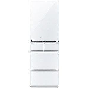 三菱 5ドア冷蔵庫 置けるスマート大容量 MBシリーズ(451L・左開きタイプ) MR-MB45EL-W クリスタルピュアホワイト(標準設置無料)