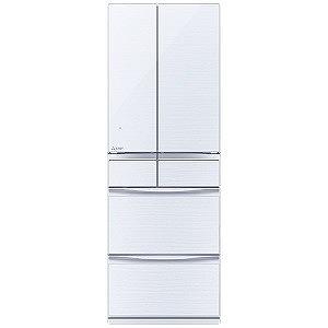 三菱 6ドア冷蔵庫 冷蔵庫 置けるスマート大容量 MXシリーズ(503L・フレンチタイプ ) MR-MX50E-W クリスタルホワイト(標準設置無料)