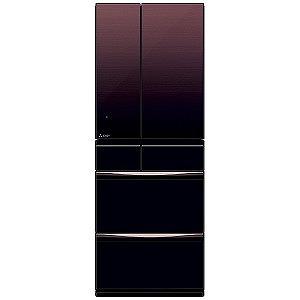 三菱 ◎6ドア冷蔵庫 置けるスマート大容量 MXシリーズ (572L・フレンチタイプ) MR-MX57E-ZT グラデーションブラウン(標準設置無料)