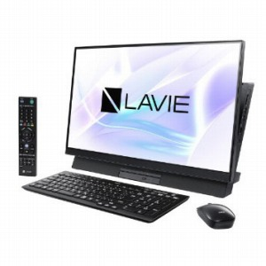 NEC デスクトップパソコン LAVIE Desk All-in-one PC-DA770MAB ファインブラック [23.8型 /HDD:3TB /Optane:16GB /メモリ:8GB /2019年春モデル]