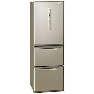 パナソニック 3ドア冷蔵庫(365L・右開きタイプ ) NR-C370C-N シルキーゴールド (標準設置無料)