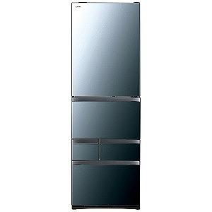 東芝 5ドア冷蔵庫(465L・左開き) GR-R470GWL(XK) クリアミラー(標準設置無料)