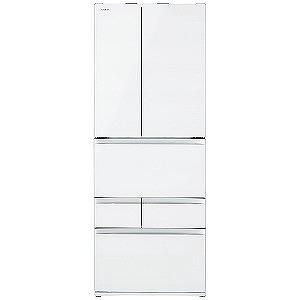 東芝 6ドア冷蔵庫(551L・フレンチドア) GR-R550FZ(UW) クリアグレンホワイト(標準設置無料)