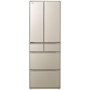 日立 6ドア冷蔵庫(520L・フレンチタイプ) R-HW52K-XN プレーンシャンパン (標準設置無料)