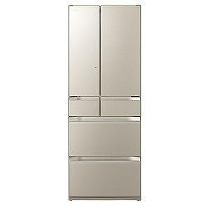 日立 6ドア冷蔵庫 ぴったりセレクト KXタイプ(567L・フレンチタイプ ) ◎R-KW57K-XN ファインシャンパン(標準設置無料)
