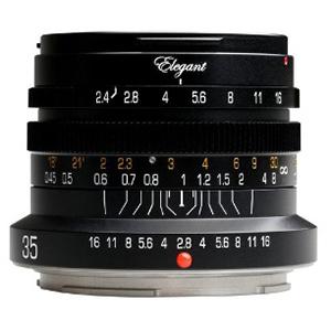KIPON ELEGANT 35mm/f2.4 for EOS R(Black) ELEGANT35RFBK