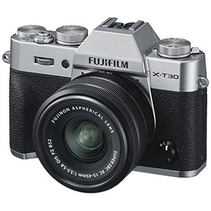 富士フイルム ミラーレス一眼カメラ X-T30【XC15-45mmレンズキット】 FX-T30LK-1545-S シルバー