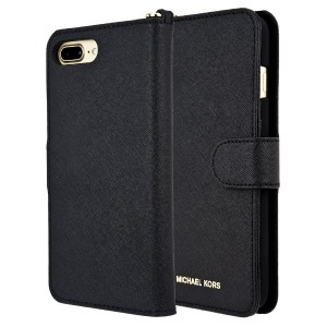 マイケルコース iPhone 7Plus/8Plus Black Leather Folio 32S7GZ3L9L-001 ブラック