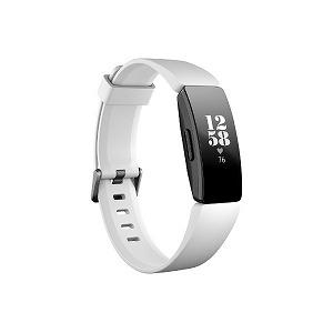 Fitbit フィットネストラッカー Inspire HR L/Sサイズ FB413BKWT-FRCJK ホワイト/ブラック