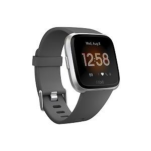 Fitbit フィットネススマートウォッチ Versa Lite L/Sサイズ FB415SRGY-FRCJK チャコール/シルバーアルミニウム