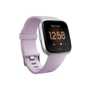 Fitbit フィットネススマートウォッチ Versa Lite L/Sサイズ FB415SRLV-FRCJK ライラック/シルバーアルミニウム