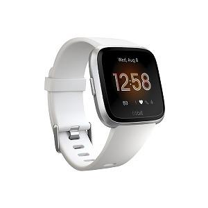 Fitbit フィットネススマートウォッチ Versa Lite L/Sサイズ FB415SRWT-FRCJK ホワイト/シルバーアルミニウム