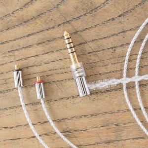 FINAL ファイナル MMCX シルバーコートケーブル 4.4mmL 型プラグ MS12EZCLEH