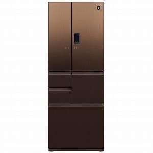 シャープ 6ドア冷蔵庫 SJ-GA55E-T エレガントブラウン系 (標準設置無料)