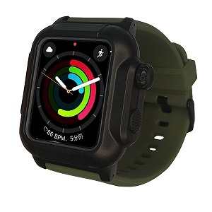 ROOX Apple Watch Series 4 (40mm) 防塵防水ケース YHDIPCW4S-MG ミリタリー