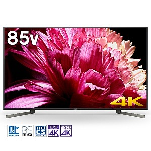 ソニー SONY 85V型4K対応液晶テレビ[4Kチューナー内蔵/YouTube対応]BRAVIAブラビア KJ-85X9500G(標準設置無料)