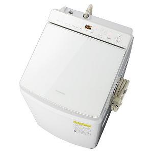 パナソニック 縦型洗濯乾燥機 [洗濯8.0kg/乾燥4.5kg/ヒーター乾燥(水冷・除湿タイプ)/液体洗剤・柔軟剤自動投入] NA-FW80K7-W ホワイト(標準設置無料)