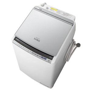 日立 縦型洗濯乾燥機(洗濯9.0kg/乾燥5.0kg/ヒーター乾燥(水冷・除湿タイプ)/上開き) BW-DV90E-S シルバー(標準設置無料)